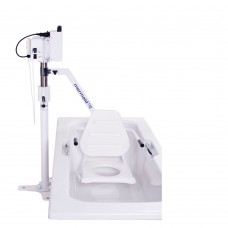 Mermaid Electric Bath Hoist - Side Fit with Commode Seat