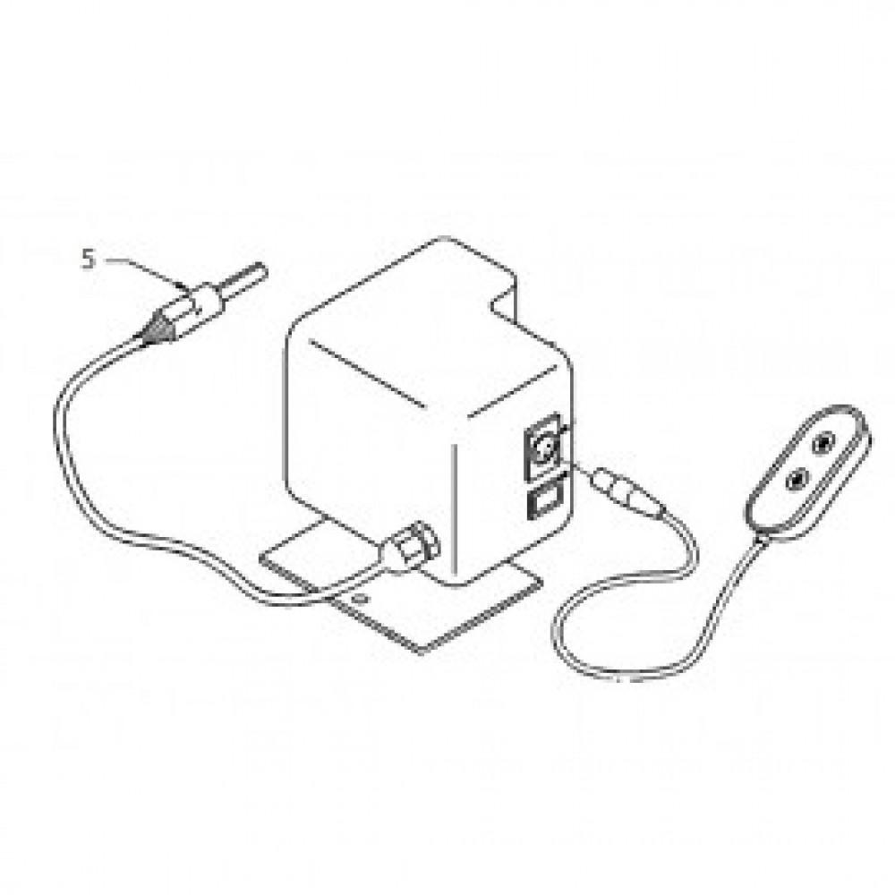 05 - Power/charger plug (straight) - wired