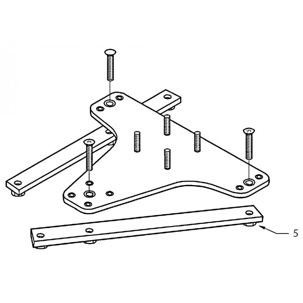 05 -  Wood floor fixing straps (M12 X 70) KIT