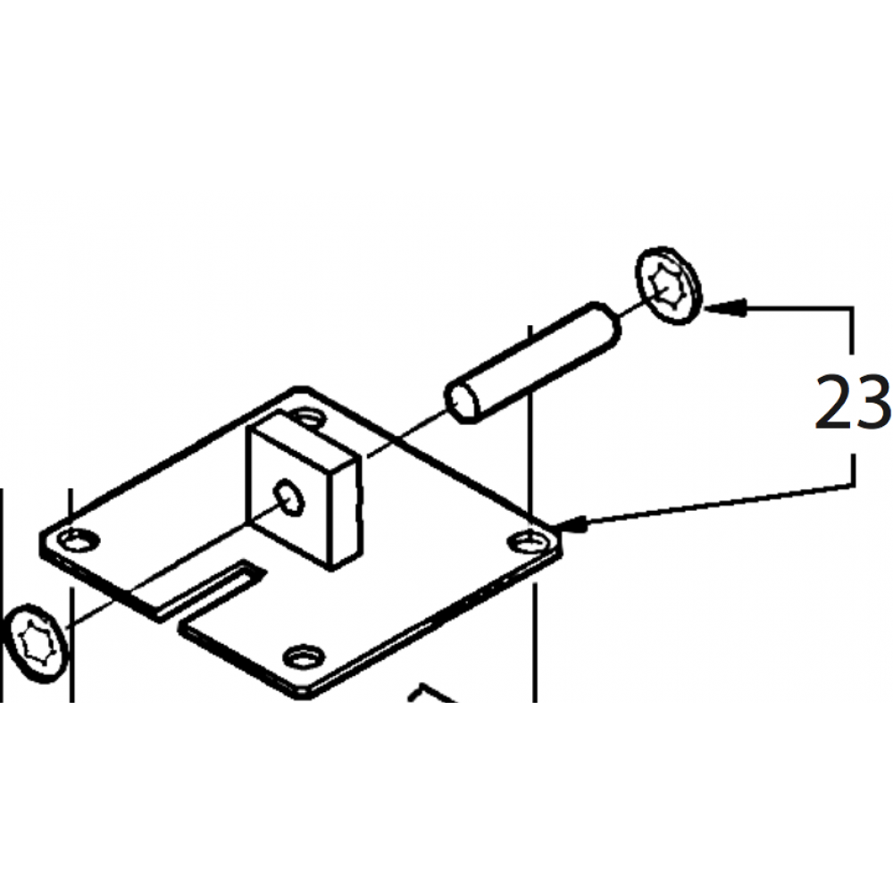 23 - Retaining plate assembly