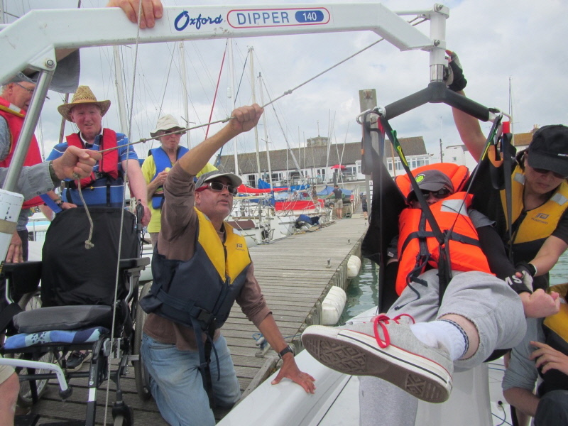 Sussex Yacht Club operating Dipper hoist